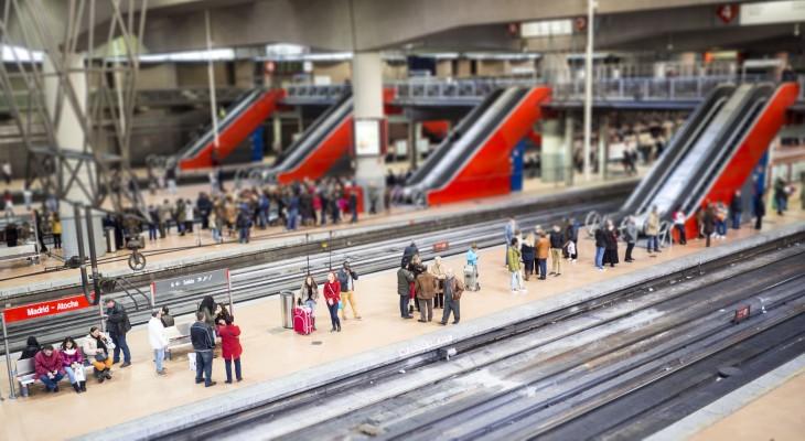Metro en Madrid, España