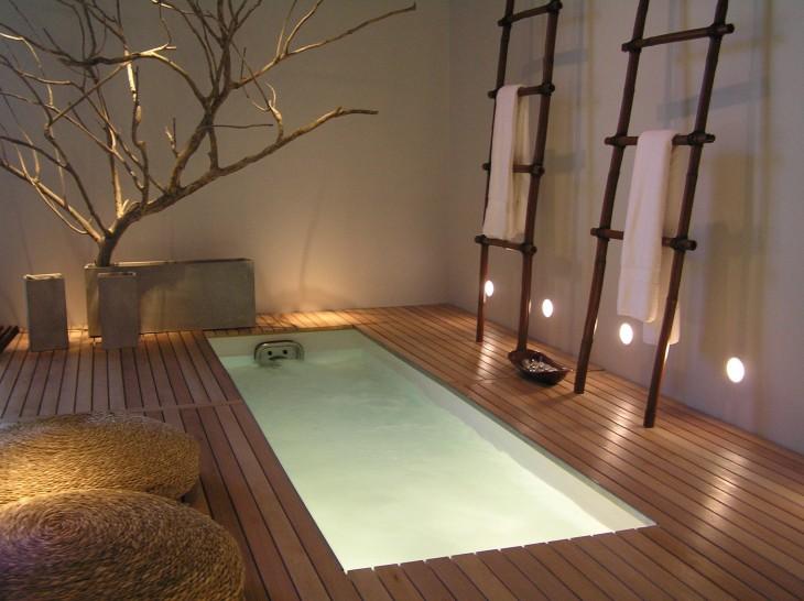 diseño de un baño Zen