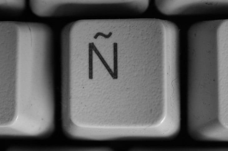 letra Ñ sobre el teclado de una computadora