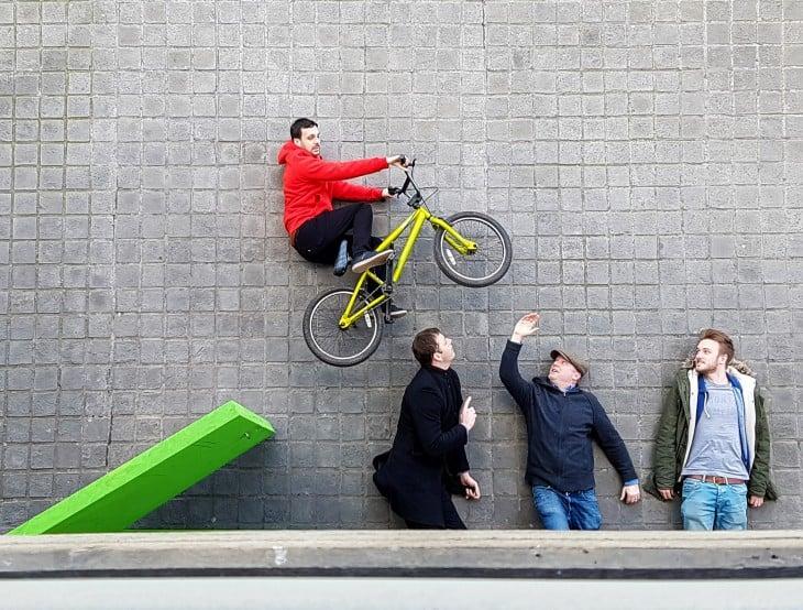 Reveals the secret photo bicycle