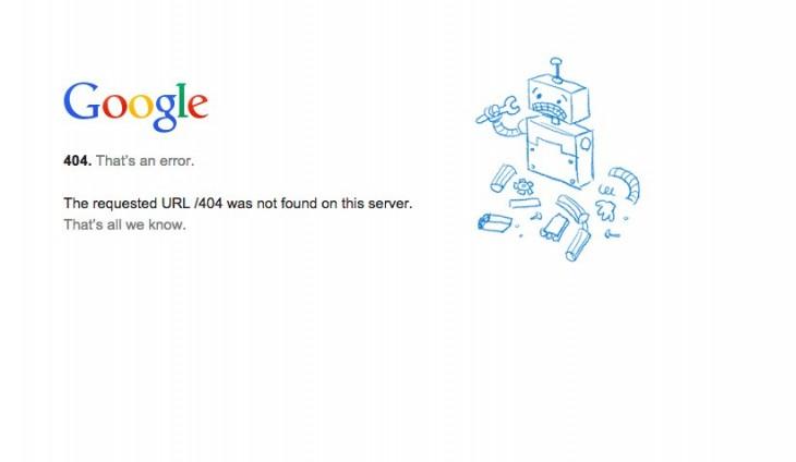captura de fallas en el servicio de Google