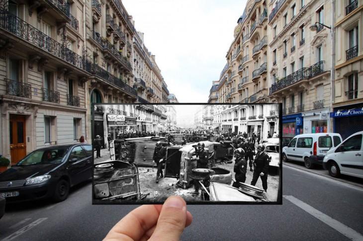 foto antigua sobre una fotografía de Rue Gay - Lussac
