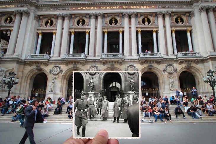 El francés Julien Knez combinó fotos antiguas y nuevas de París