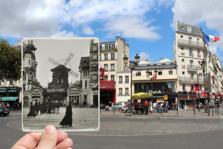 Fotografía actual de Le Moulin Rouge, 1900
