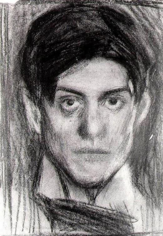Autorretratos por Pablo Picasso hecho a sus 18 años en el año 1900