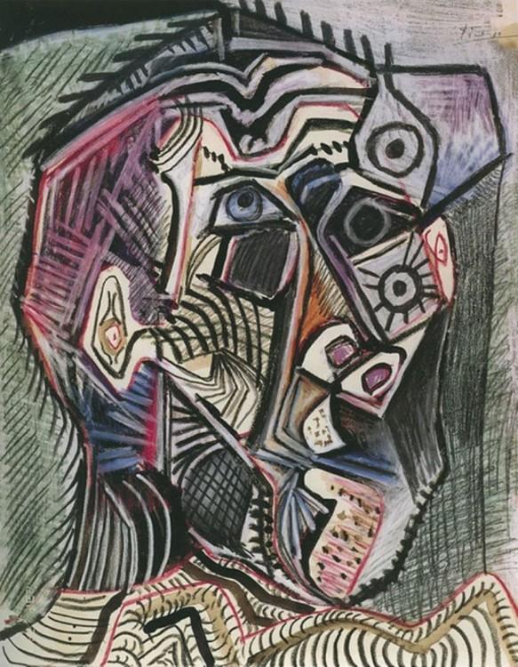 Obra de Pablo Picasso hecha a sus 98 años el día 28 de junio de 1972