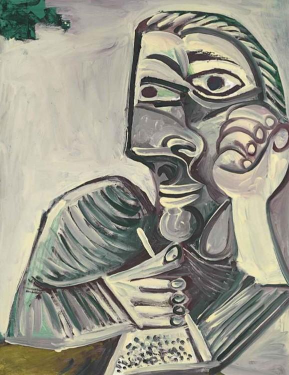 Autorretrato de Picasso hecha en el año 1971 a sus 89 años