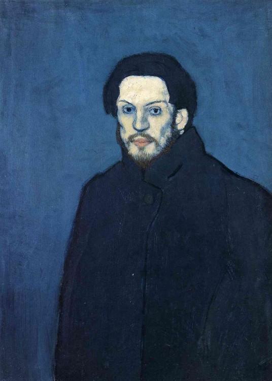Autorretratos de Picasso hecho a sus 20 años en el año 1901
