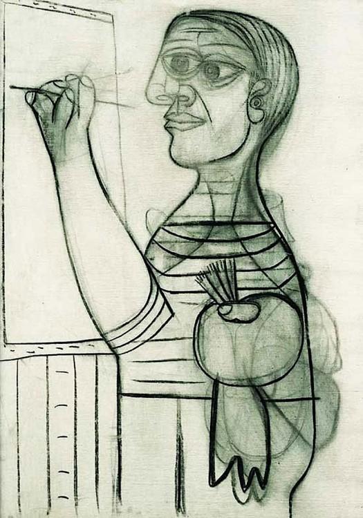 Autorretrato de Picasso hecho en el año 1938 a sus 56 años de edad
