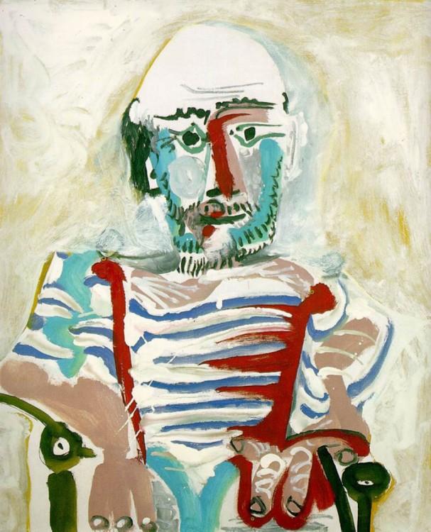 autorretrato a cargo de Pablo Picasso a sus 83 años en 1965