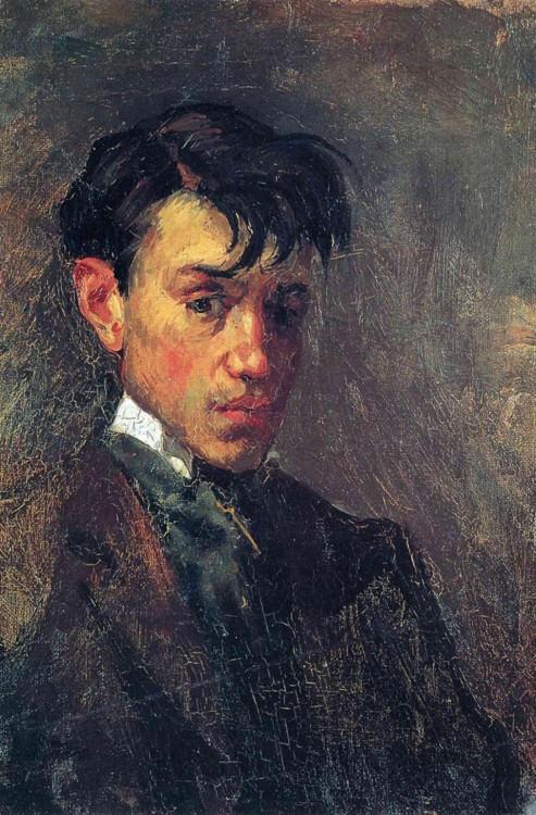 Autorretratos de Pabli Picasso pintada a sus 15 años en 1896
