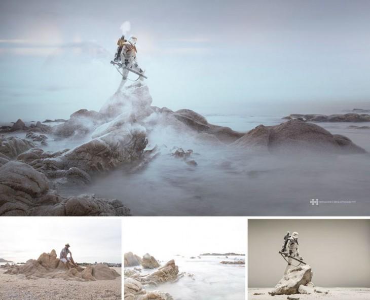 el fotógrafo mexicano Félix Hernández convirtió la fotografía de un juguete de star wars en una increíble escena