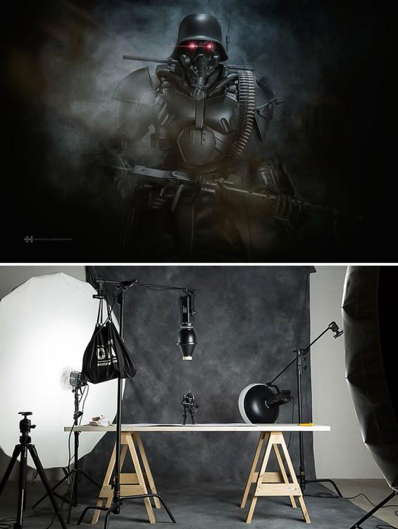 Félix Hernández convirtió la foto de un juguete de Darth Vader en una increíble escena de star wars