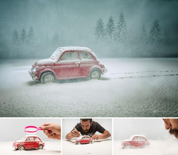 Félix Hernández convierte fotografías de juguetes en increíbles escenas