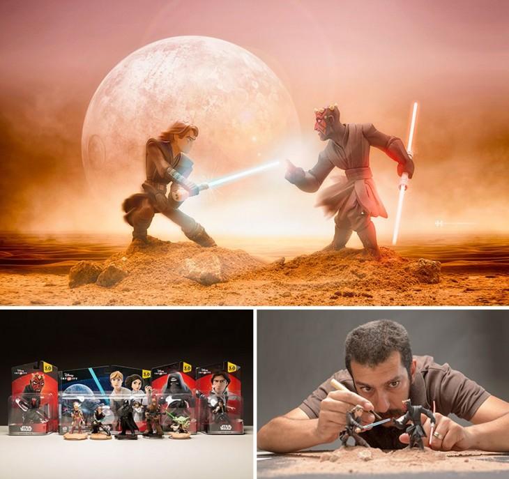 Félix Hernández convirtió fotografías de juguetes en una increíble escena de star wars