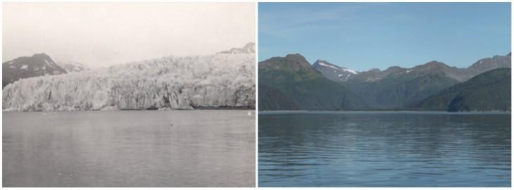 Glaciar McCarthy en Alaska en 1909 a 2004