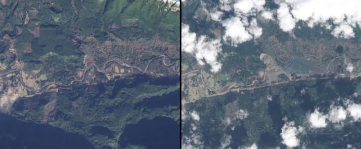 deslizamiento de la tierra cerca de Oso en Washington enero de 2014 a marzo de 2014