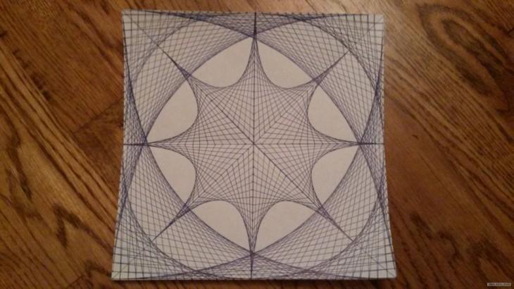 increíble diseño de un dibujo hecho con sólo líneas rectas