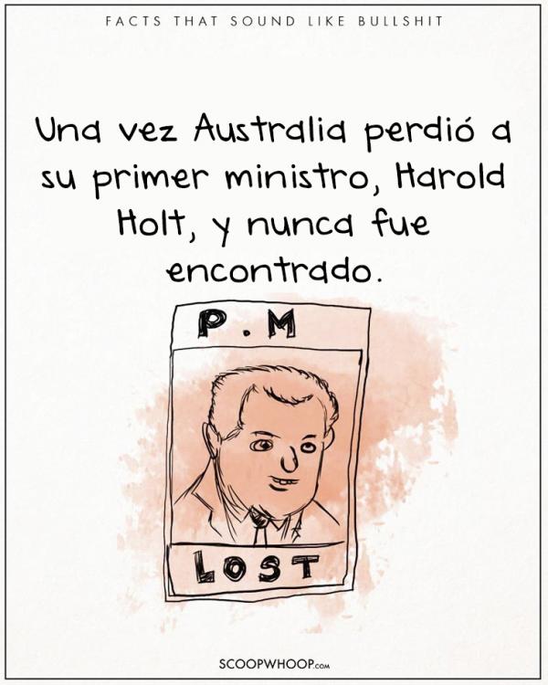 UN MINISTRO DE AUSTRALAIA NUNCA FUE ENCONTRADO