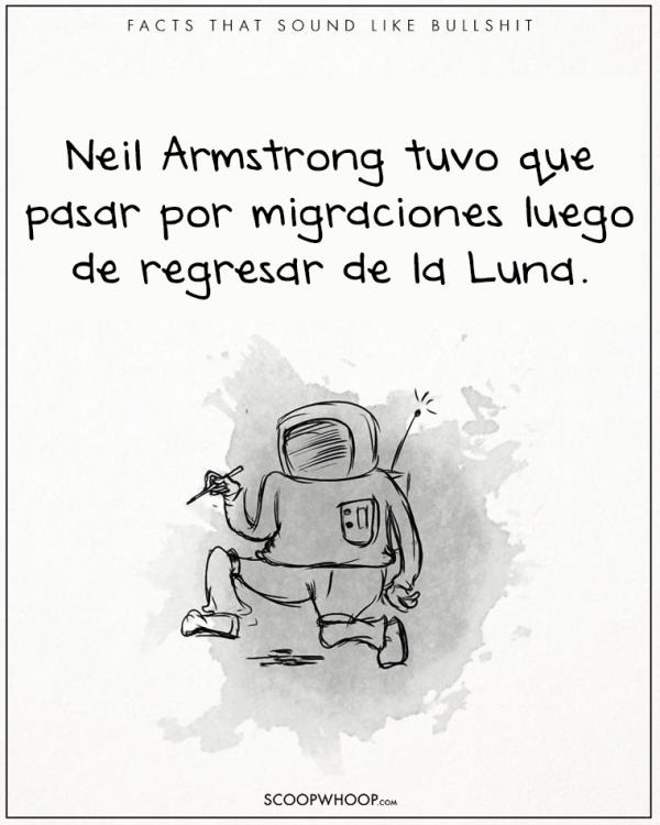EL AUSTRONAUTO ARMSTRONG TUVO QUE PASAR POR MIGRACIÓN LUEGO DE QUE LLEGÓ DE LA LUNA