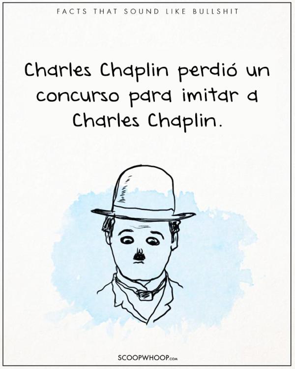 CHARLES CHAPLIN REPROBO SU PROPIO EXAMEN