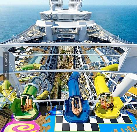 toboganes dentro del crucero Harmony of the Seas