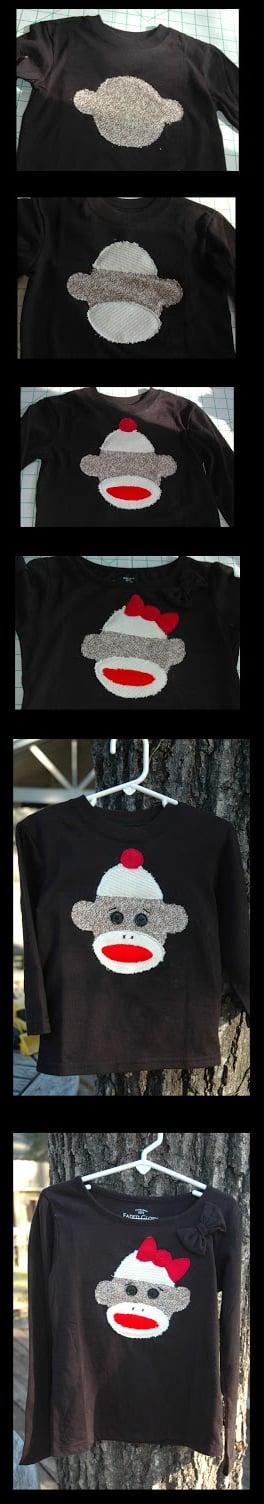 adorno de camisetas hechas con calcetines sin par
