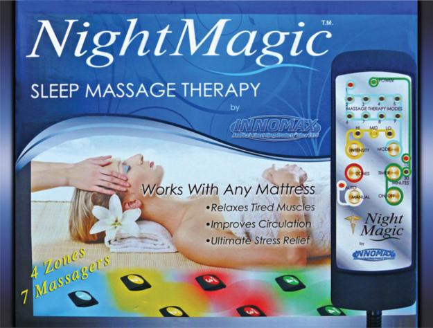 unidad para dar masajes en el colchón