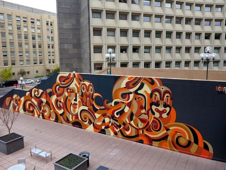 increíble mural a cargo de Reka en Washington DC, USA