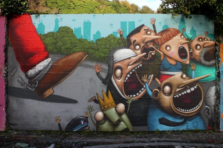 mural santa a cargo de Ador en Nantes, Francia