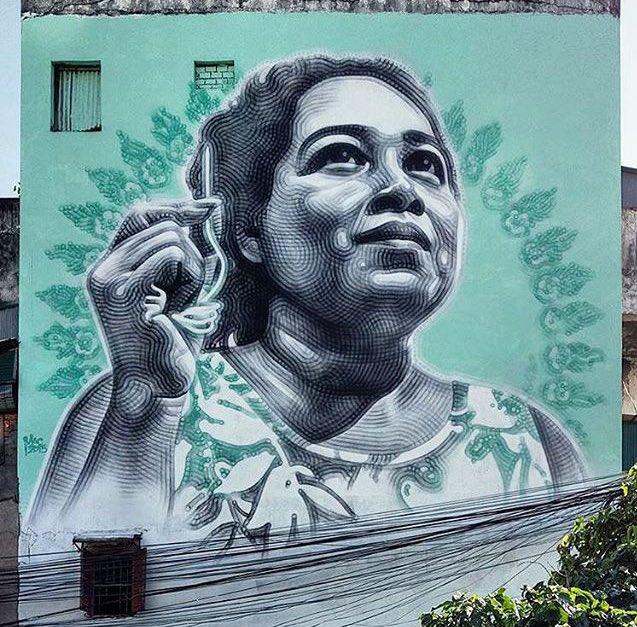 obra de arte en un mural de Guadalajara, México