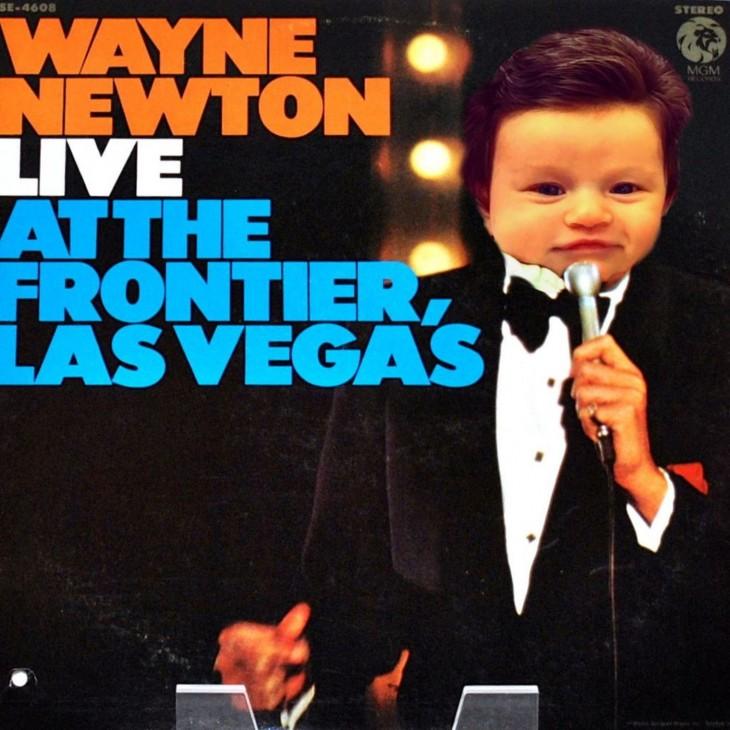Isabelle Kaplan, la bebé con mucho cabello en el disco las vegas de Wayne Newton