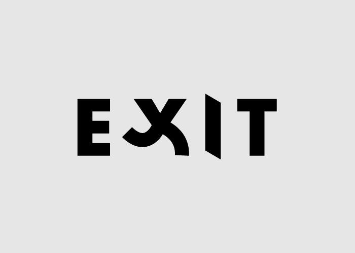 logotipo de la palabra exit