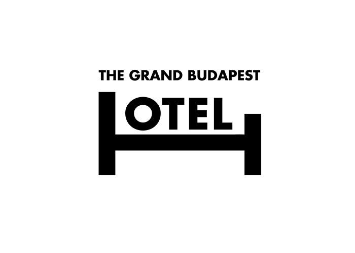 caligrama con la palabra hotel