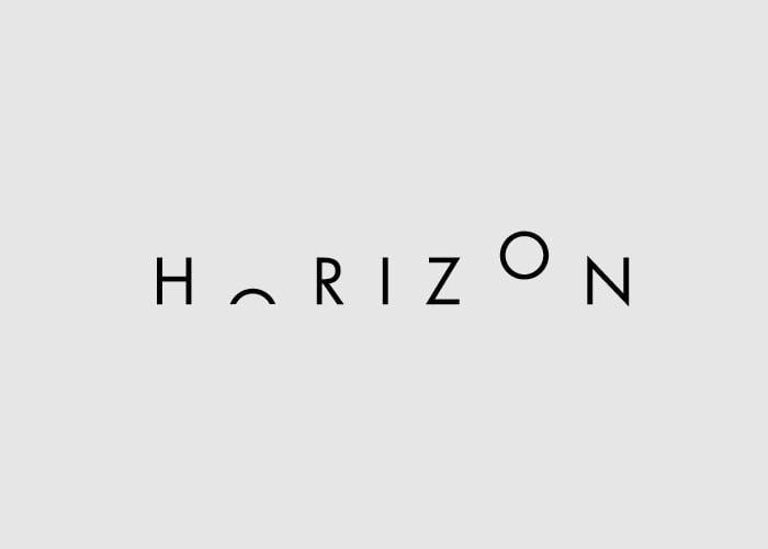 caligrafía de la palabra Horizon