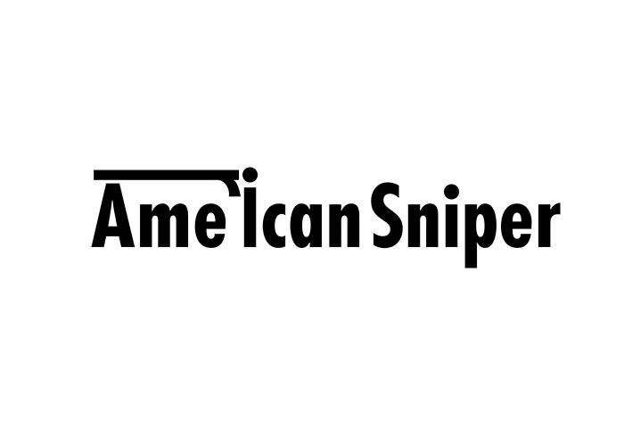 logotipo de la palabra American Sniper