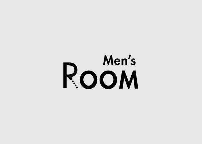caligrama de la palabra Men´s Room