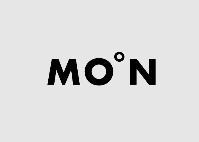 caligrama de la palabra moon a cargo del diseñador Lee