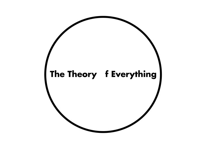 caligrama de la palabra the theory of everything