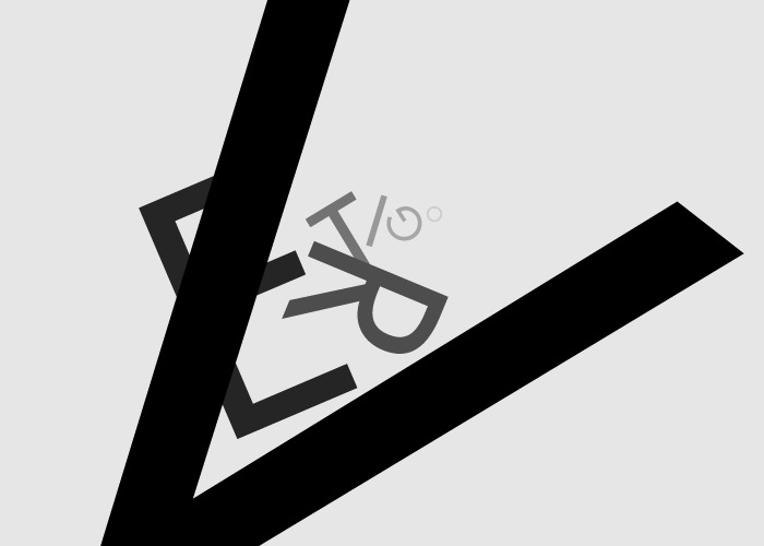 caligrama de la palabra vertigo
