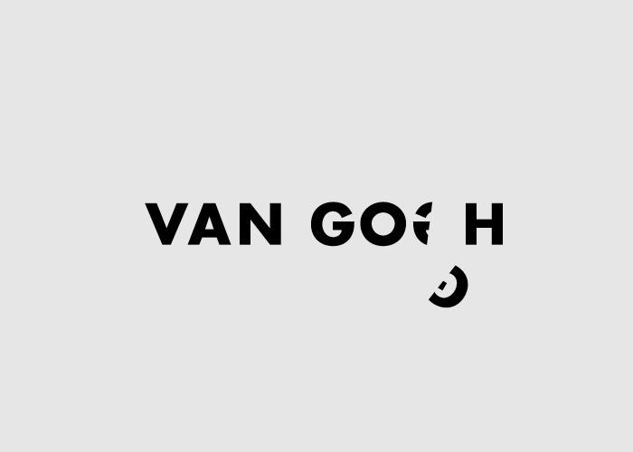 caligrama del nombre de Van Gogh a cargo de Ji Lee