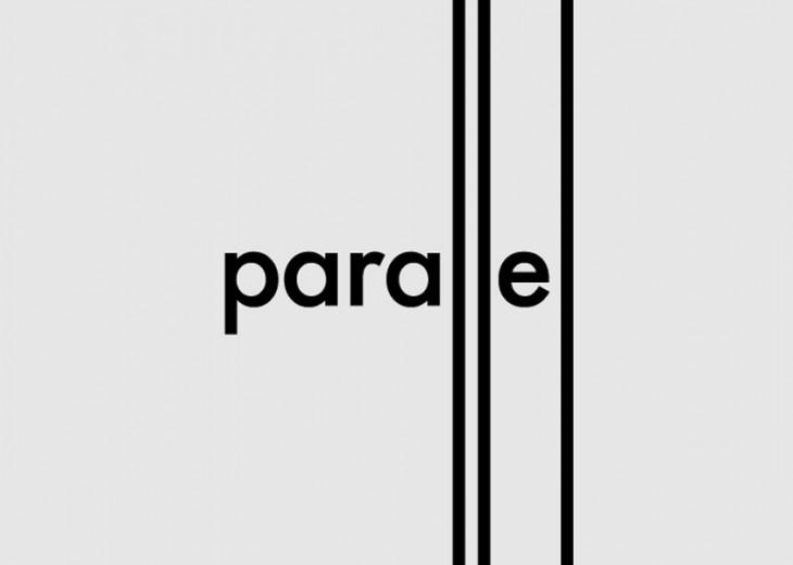 caligrama de la palabra parallel
