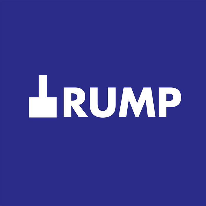 caligrama de la palabra Trump