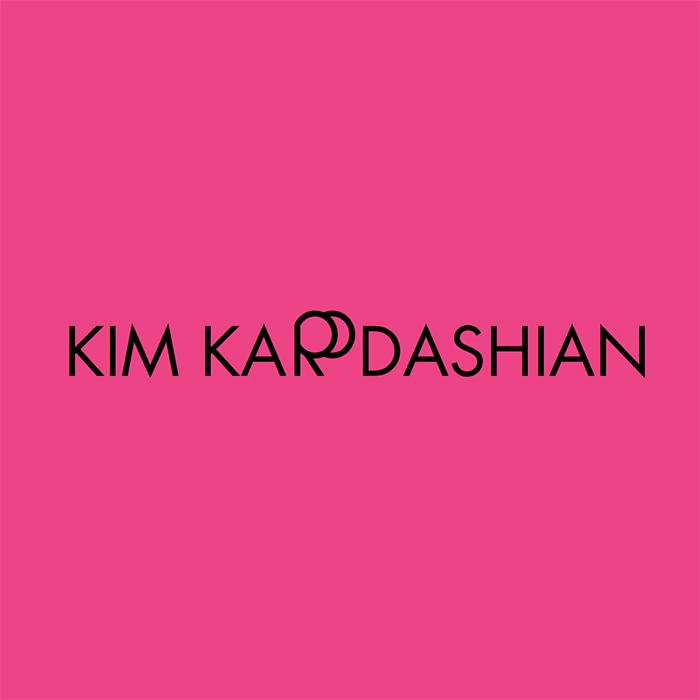 caligrama del nombre de Kim Kardashian