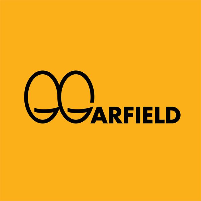 caligrama de Ji Lee con la palabra Garfield