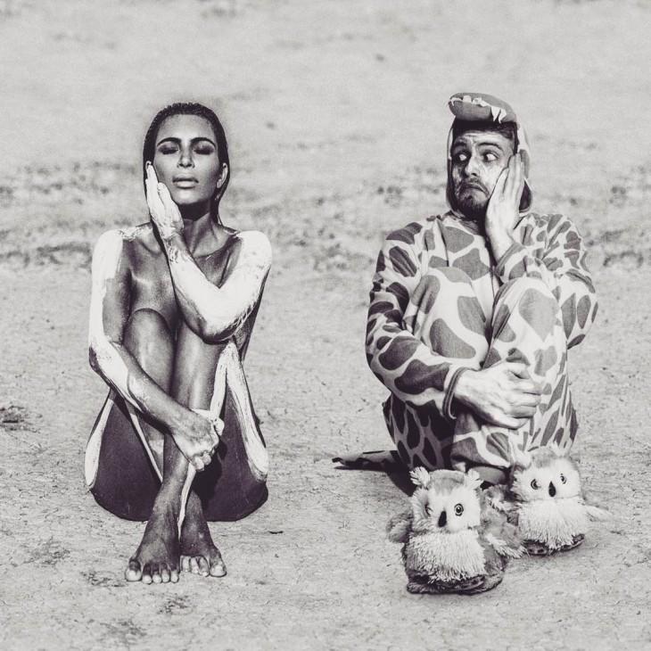 Lorenz Valentino se photoshopea así mismo a lado de Kim Kardashian bronceándose en la playa
