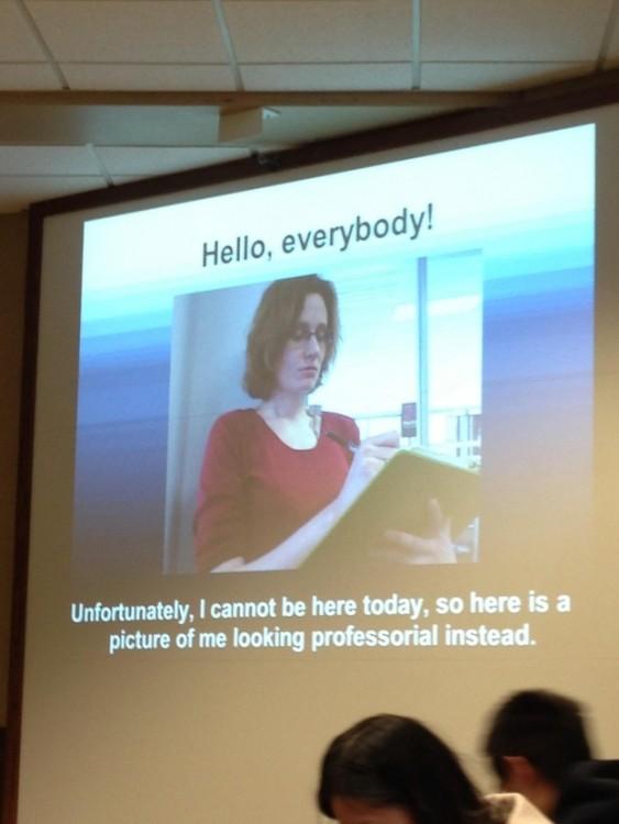Una maestra muy profesional