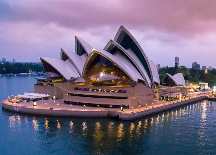 Ópera Sydney vista panorámica
