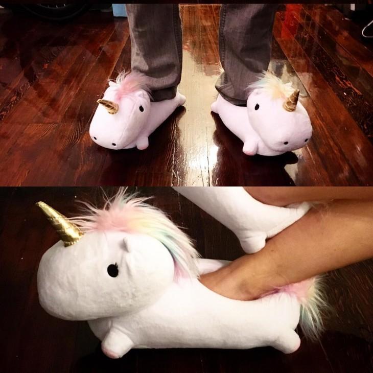 persona mostrando los unicornios