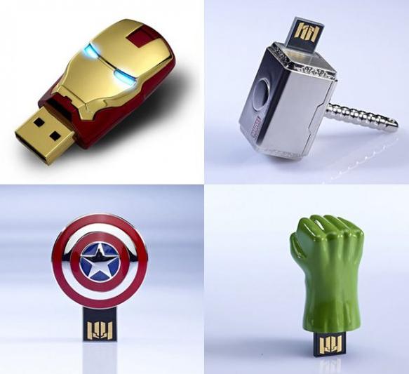 usb de superheroes